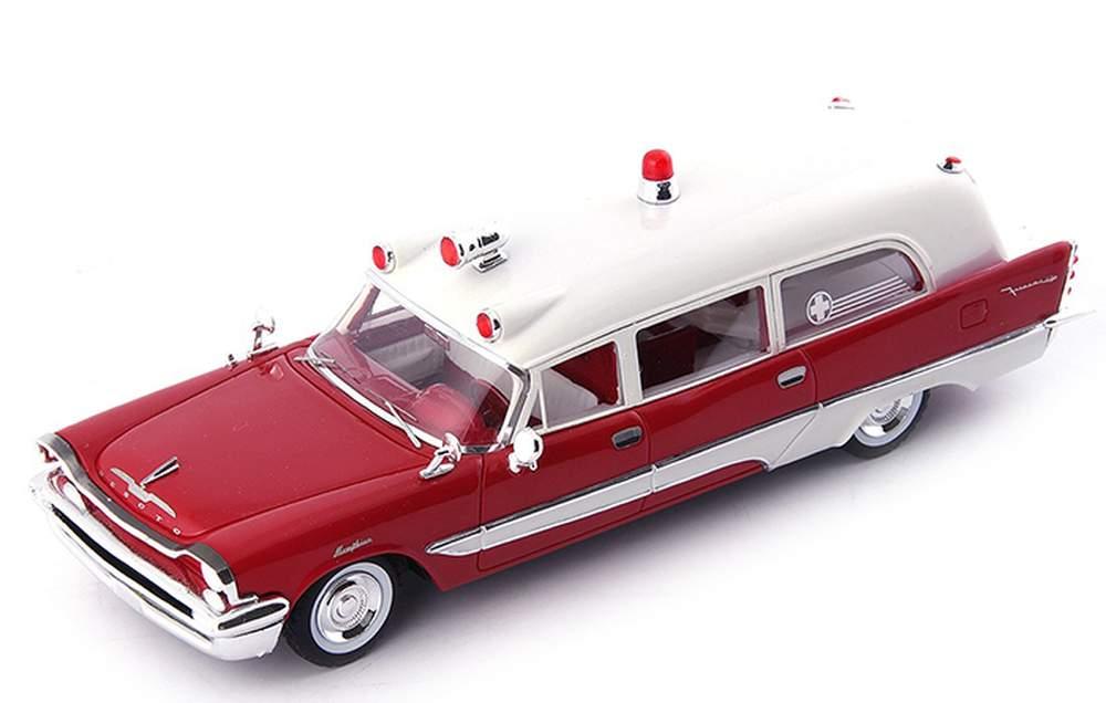 1957 DeSoto Firesweep Memphian Ambulance (Red/White)