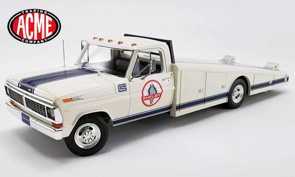 """1:18 1970 Ford F-350 Ramp Truck """"Shelby Racing"""""""