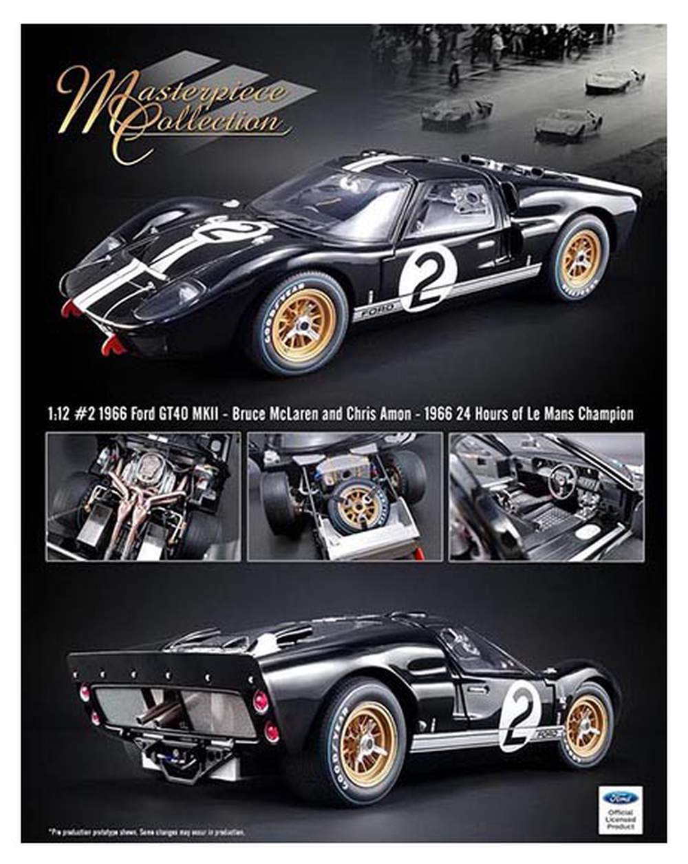 """1:12 1966 Ford GT-40 MKII - 1966 24 Hours of Le Mans Champion """"Bruce McLaren & Chris Amon"""""""