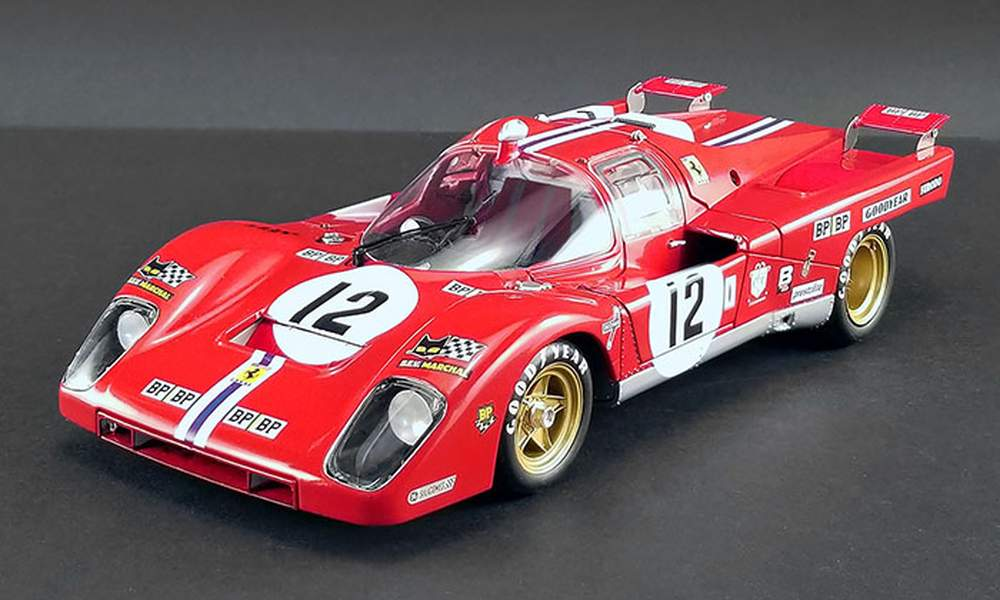 "1:18 1971 Ferrari 512M ""#12 Sam Posey/Tony Adamowicz, 1971 24 Hours of LeMans, 3rd Place"""
