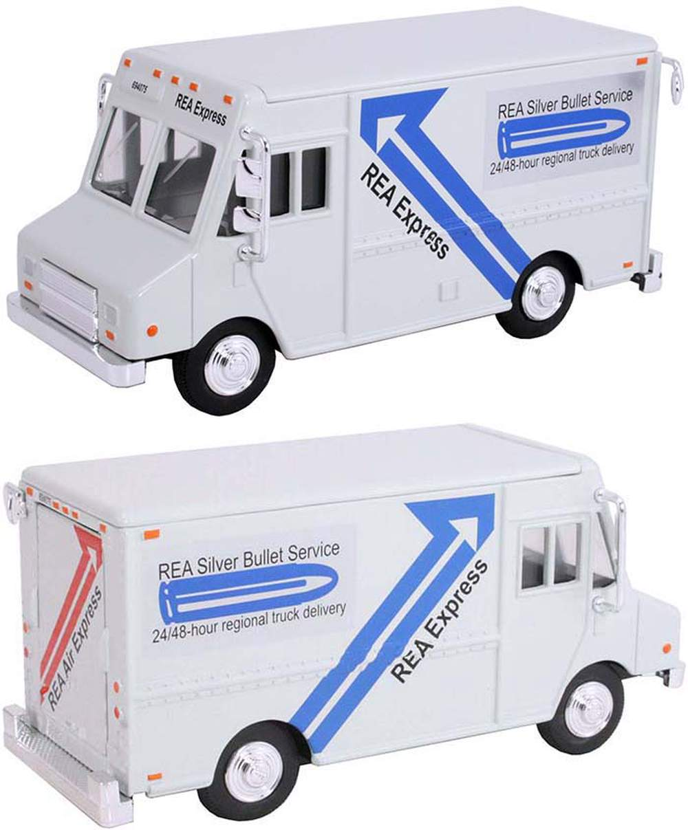 """1:48 Delivery Step Van """"REA Express"""" (Gray)"""