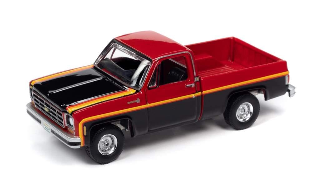 1:64 1979 Chevrolet Scottsdale 10 Sport Truck (Red/Black)