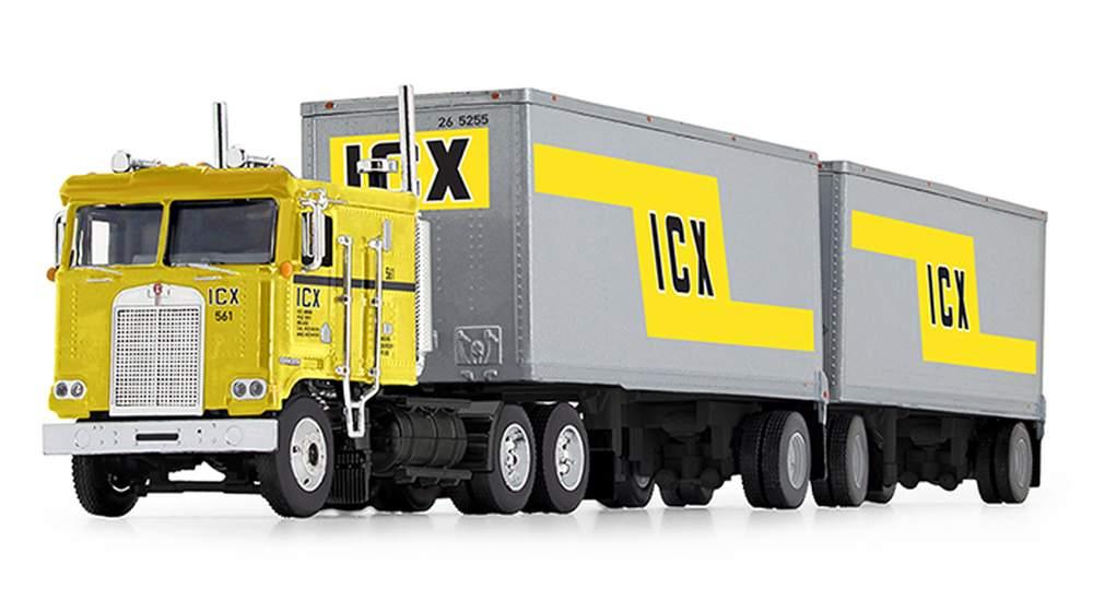 "Kenworth K100 COE Flattop w/Wabash Dual Pup Trailers ""ICX - Illinois California Express"""