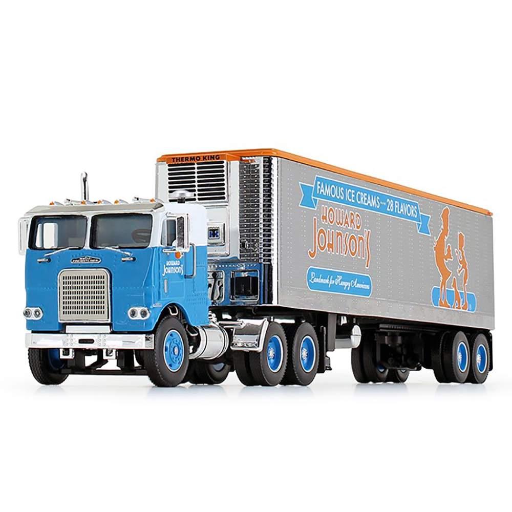 """1:64 White Freightliner COE W/40' Vintage Reefer Trailer """"Howard Johnson's"""""""