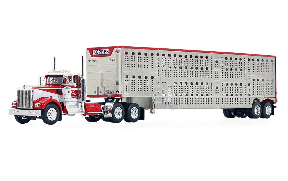 "Kenworth W900A Day Cab w/Wilson Silverstar Livestock Trailer ""Koppes Truck Line"""