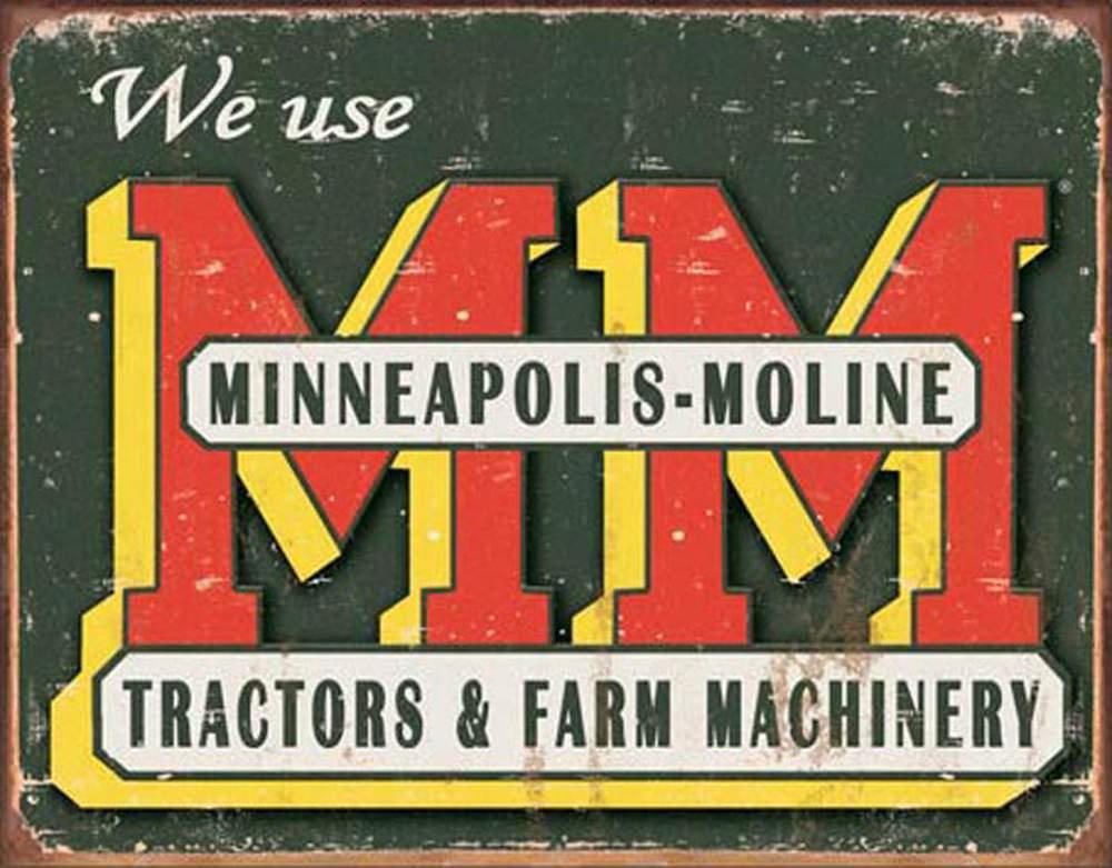 Tin Sign - Minneapolis-Moline Logo (Weathered)