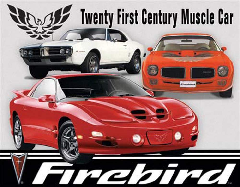 Tin Sign - Pontiac Firebird Tribute