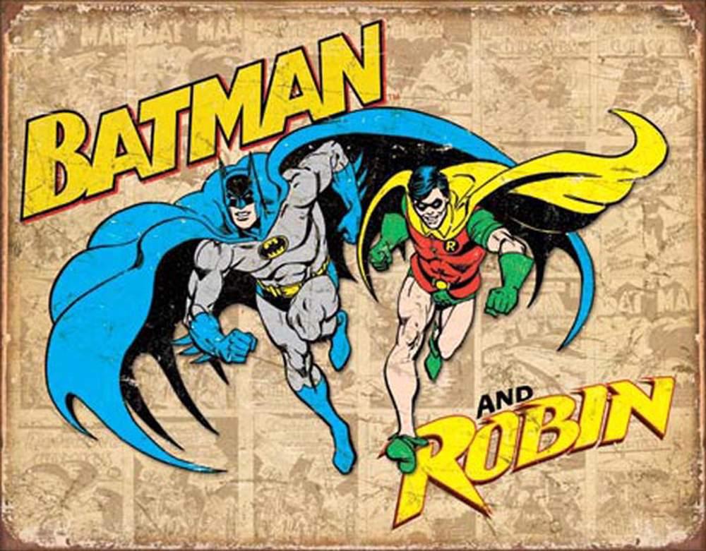 Tin Sign - Batman & Robin (Weathered)