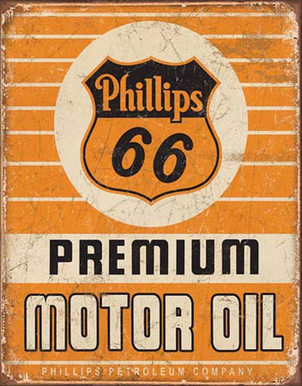 Tin Sign - Phillips 66 Premium Motor Oil
