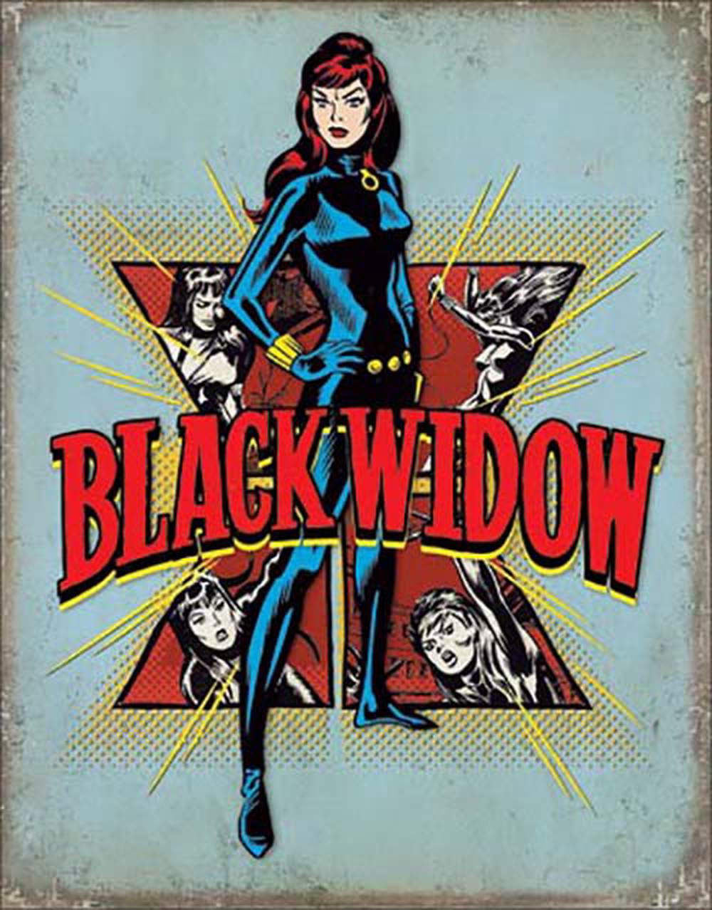 Tin Sign - Black Widow (Retro)