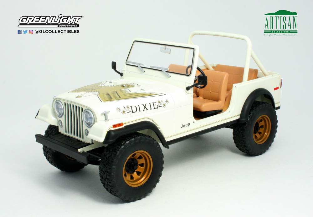"""1:18 Artisan Collection - 1979 Jeep CJ-7 Golden Eagle """"Dixie"""" w/Removable Top"""