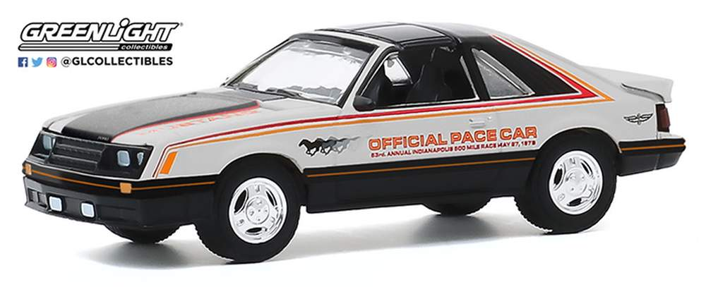 Greenlight 1979 Ford Mustang 1982 Detroit Grand Prix Official Pace car