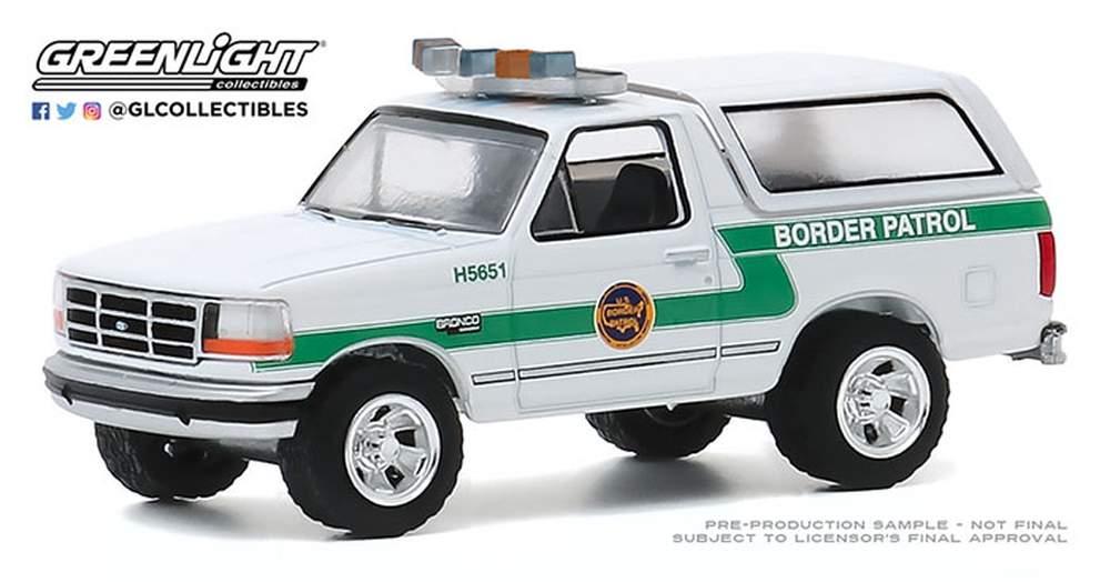 "1:64 Hot Pursuit Series 35 - 1993 Ford Bronco ""U.S. Customs & Border Protection Border Patrol"""