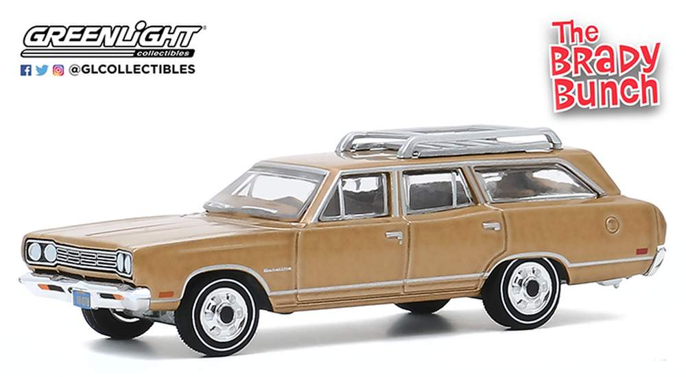 1:64 The Brady Bunch (1969-74 TV Series) Carol Brady's 1969 Plymouth Satellite Station Wagon
