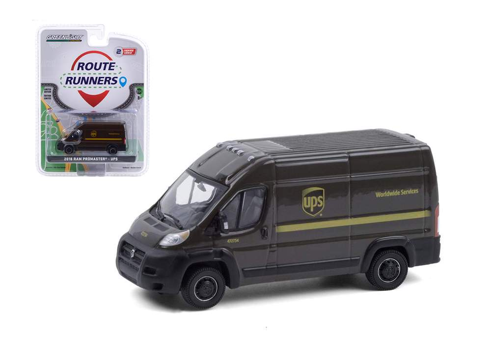 "1:64 2018 RAM ProMaster 2500 Cargo High Roof ""United Parcel Service (UPS) Worldwide Services"""