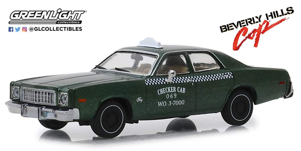1:43 Beverly Hills Cop (1984) - 1976 Plymouth Fury Checker Cab 069 WO. 3-700