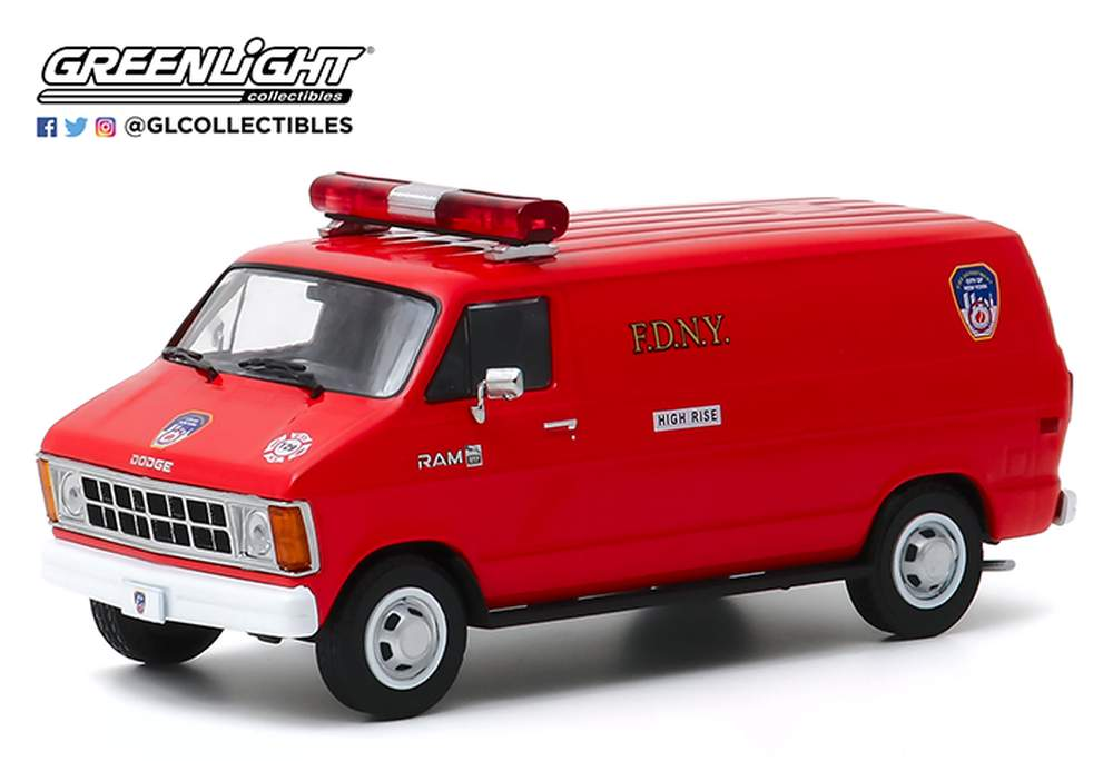 "1:43 1983 Dodge Ram B250 Van ""FDNY (The Official Fire Department City of New York)"""