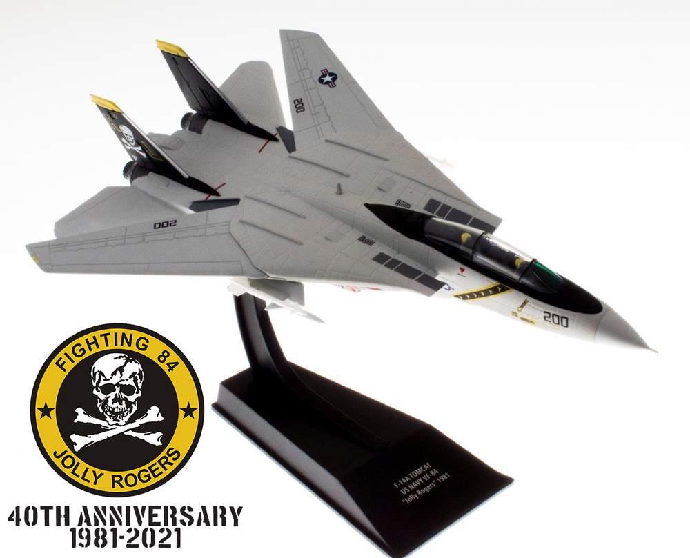 "1:100 Grumman F-14A Tomcat, VF-84 ""Jolly Rogers,"" USS Nimitz, U.S. Navy, 1981"