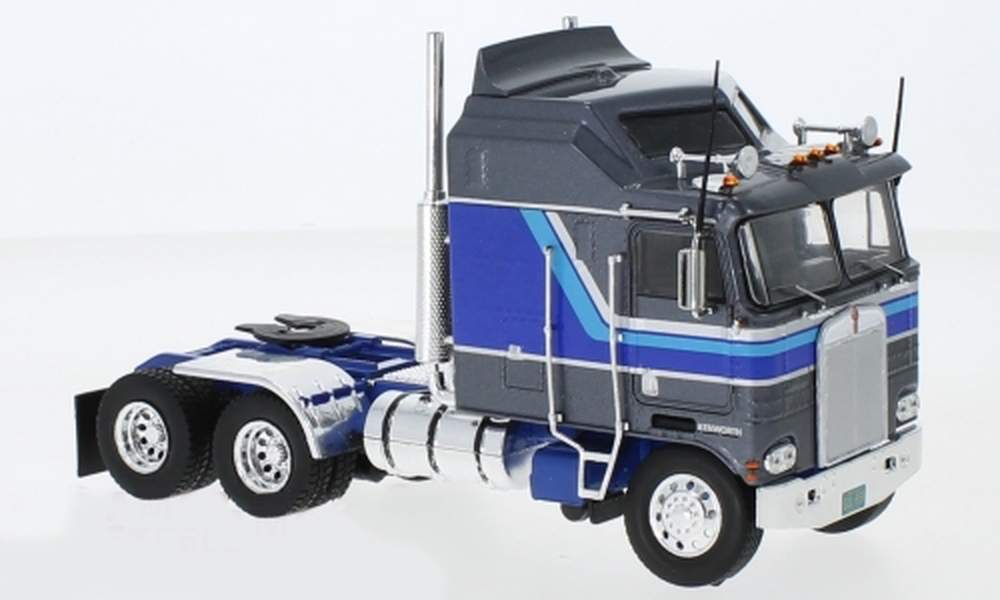 1:43 1976 Kenworth K100 COE Aerodyne Tractor (Gray/Blue)