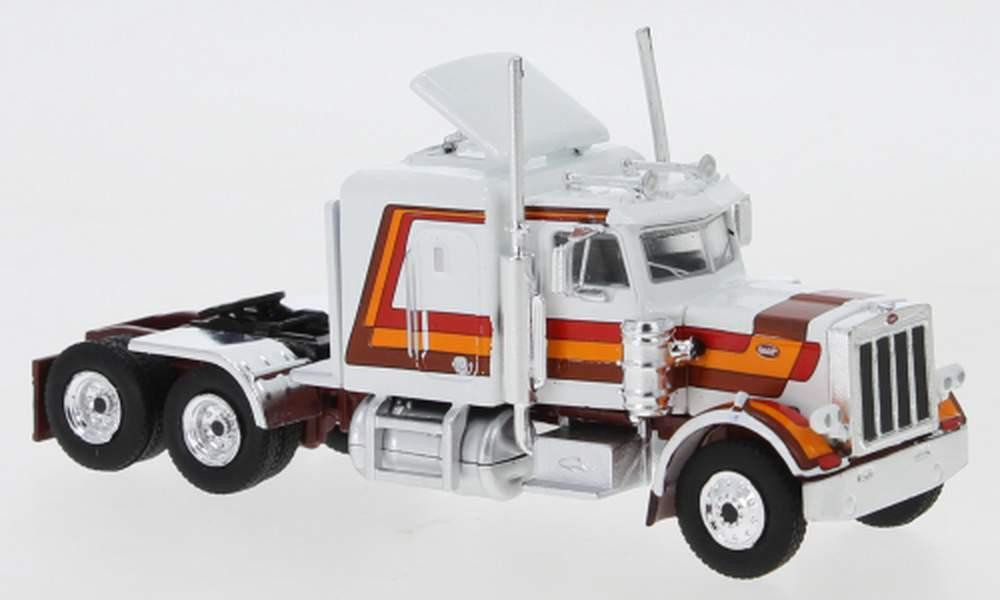 1:43 1973 Peterbilt 359 Tractor (White w/Stripes)