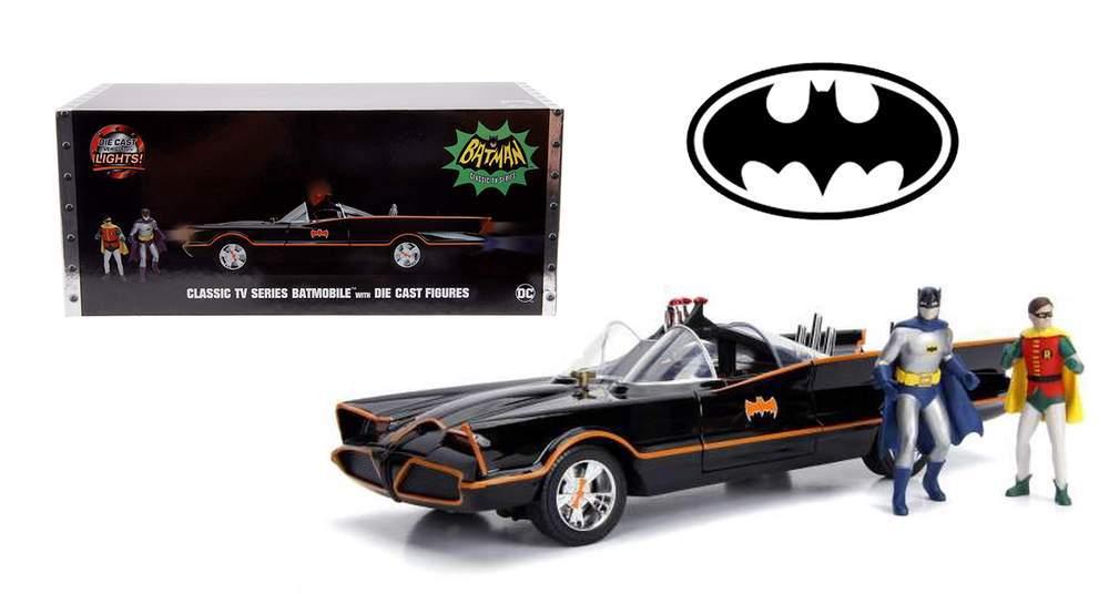 1:18 Batman™ Batmobile™ - 1966 Classic TV Series w/Batman & Robin Figures
