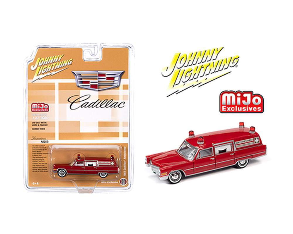 1:64 1966 Cadillac Ambulance (Red)