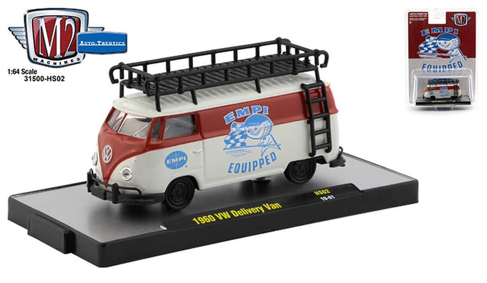 """1:64 1960 VW Delivery Van """"EMPI Equipped"""" (Ruby Red/White)"""