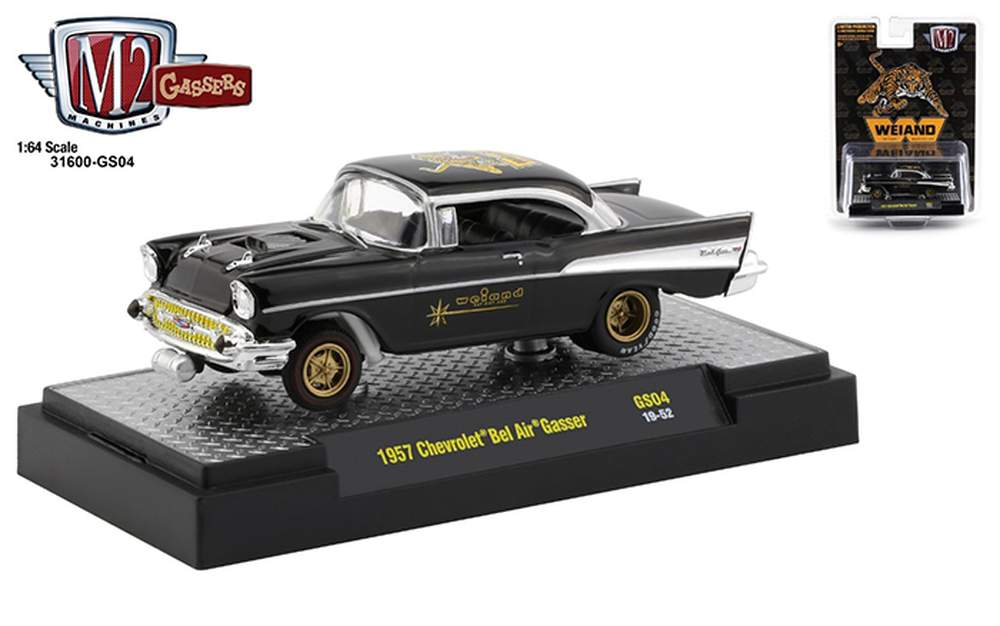 """1:64 Special Release - 1957 Chevrolet Bel Air Gasser """"Weiand"""" (Black)"""