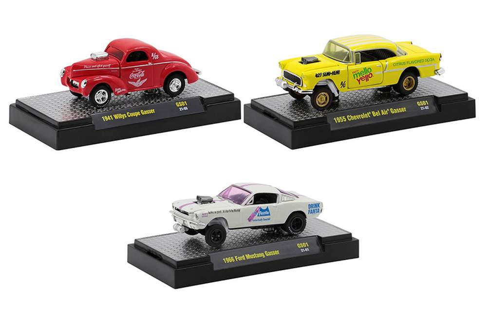 """1:64 Coca-Cola Release GS01 (Set of 3) """"Gassers"""""""