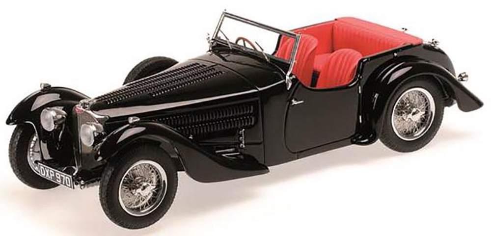 1:43 1938 Bugatti Type 57C Corsica Roadster (Black)