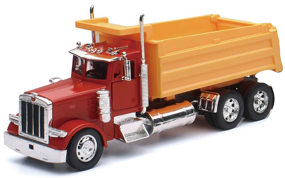 1:32 Kenworth W900 Dump Truck (Red/Yellow)