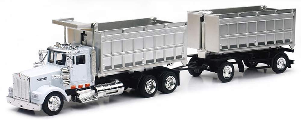 Kenworth W900 Tandem Dump Truck (White/Chrome)