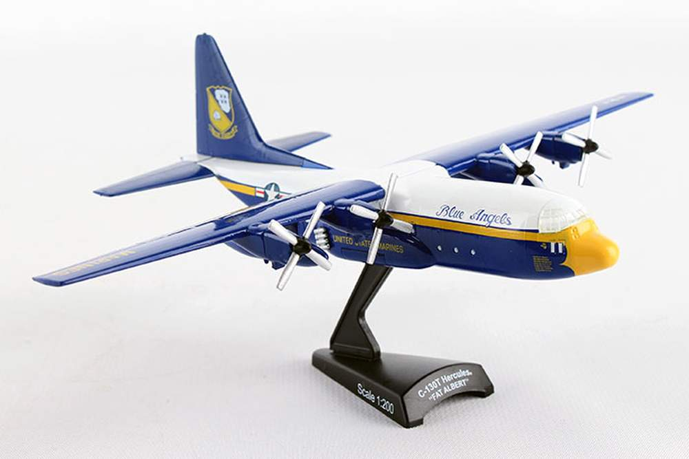 "1:200 C-130 Hercules ""USN Blue Angels, Fat Albert"" (8"")"