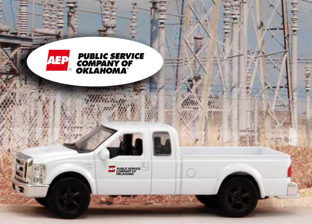 "1:43 Ford F-250 Super Duty Pickup ""American Electric Power - Oklahoma"""