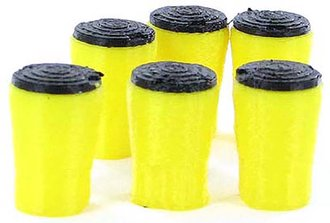 Crash Absorption Barrels - 6-Pack - Yellow/Black