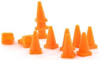 1:50 Traffic Cones - 12-Pack - Safety Orange
