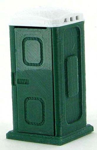 1:50 Porta-Potty w/Opening Door - Dark Green/White
