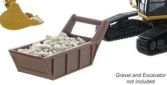 1:50 Gravel & Bedding Box (Brown/Rust)
