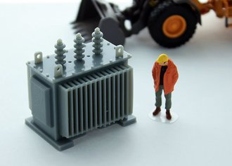 1:50 Electrical Transformer (Gray)