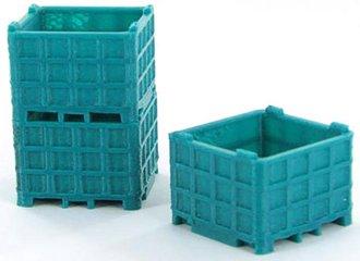 1:64 Plastic Bin Pallet 3-Pack (Bluegreen)