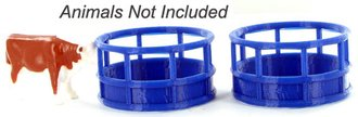 1:64 Hay Feeder - 2-Pack - Blue