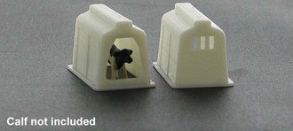 1:64 Calf Shelter (White) 2-Pack