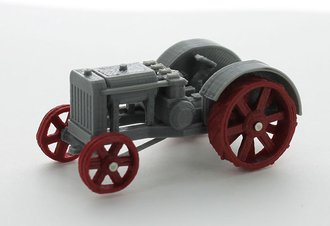 1:64 Old Timer 22-40HP Cross-Motor Tractor (Red/Gray)