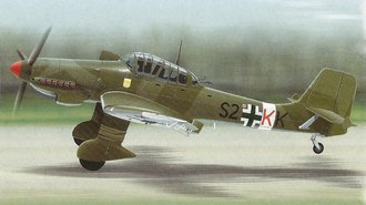 "JU 87 Stuka ""Luftwaffe"" *** Repaired Broken Wing ***"