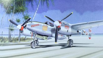 "P-38J Lightning ""USAAF, Pudgy, Maj. McGuire, WWII Ace"""