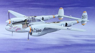 "P-38J Lightning ""USAAF, Putt Putt Maru, Col. McDonald, WWII Ace"""
