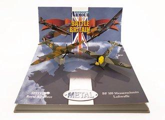 """BF 109 Messerschmitt Luftwaffe & Spitfire Royal Air Force Set """"Battle of Britain"""""""