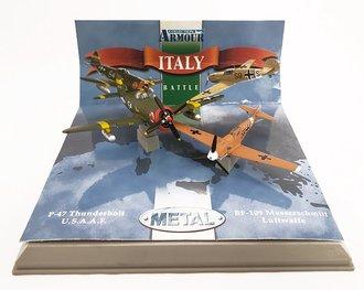 """P-47 Thunderbolt USAAF & BF-109 Messerschmitt Luftwaffe Set """"Italy"""""""