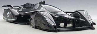 Red Bull X2014 Fan Car (Dark Silver Metallic)