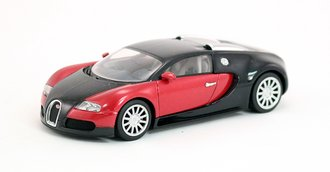 Bugatti Veyron 16.4 Production Car, (Black/Red)